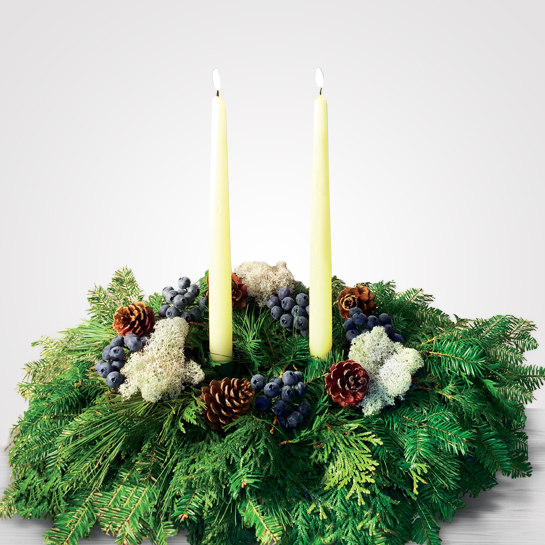 Blueberry Christmas Table Centerpieces